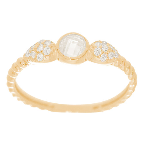14kt Yellow Gold Ring with CZ Stones - RNG-44INC52