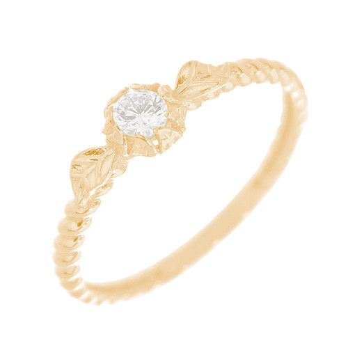 14kt Yellow Gold Ring with CZ Stones - RNG-44INC55