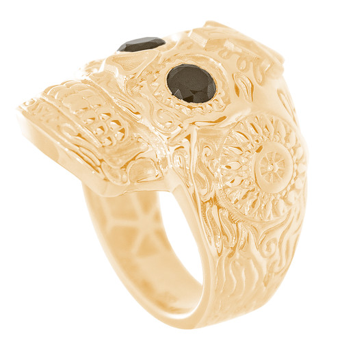 14kt Katrina Ring with CZ Eyes - RNG-SSCZ