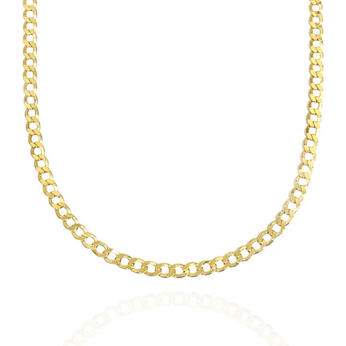 """7.7mm 14kt Semi-Solid Concave Chain - 24"""" (Reg. $3,471)"""