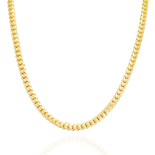 """6.8mm Solid Miami Cuban Link With Box Lock - 22"""", 24"""""""