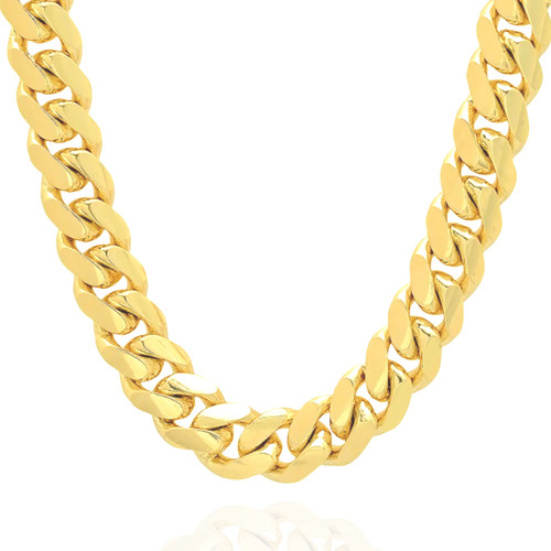 """11.5mm Solid Miami Cuban Link With Box Lock - 26"""""""