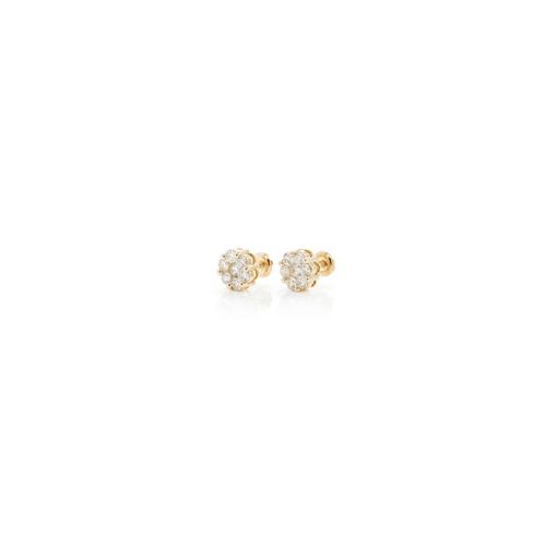 .35cttw - VS Diamond Cluster Earrings