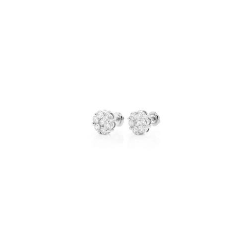 .20cttw - VS Diamond Cluster Earrings - White Gold