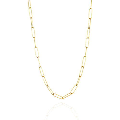 """4mm Semi-Sold French Paperclip Chain - 18"""""""
