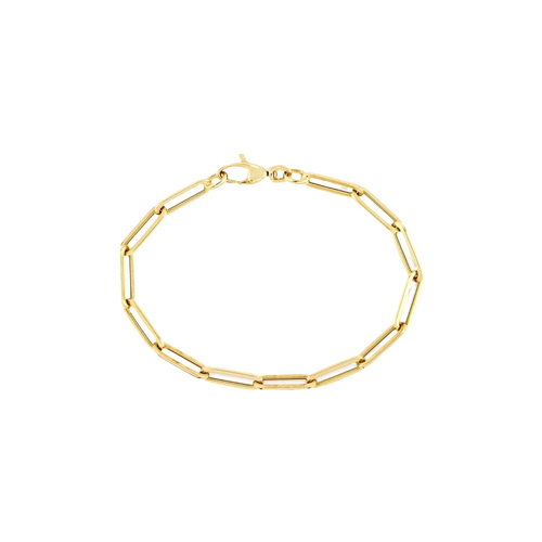 """4.5mm Hollow French Paperclip Bracelet - 7.5"""""""