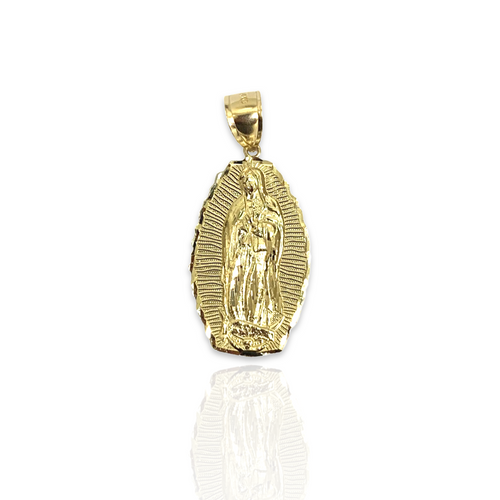 14kt Yellow Gold Virgin Mary Pendant - SM