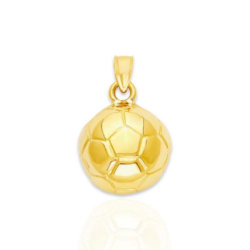 14kt 3D Soccer Ball Pendant