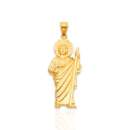 14kt Solid Yellow Gold St.Jude Pendant - M