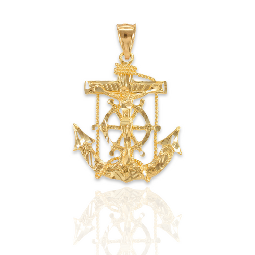 14kt Solid Yellow Gold Anchor - M
