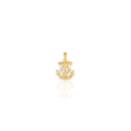 14kt Solid Yellow Gold Anchor - Micro