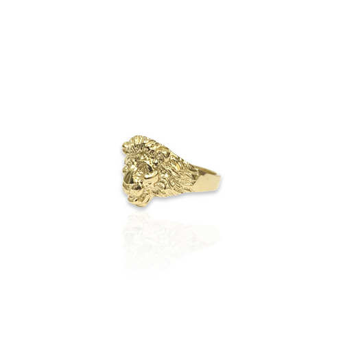 Solid 14kt Lion Head Ring