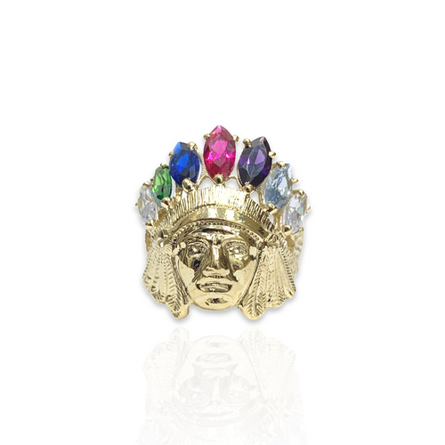 14kt Indian Head Ring - L