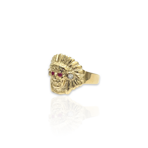 14kt Indian Head Ring - S - 3681