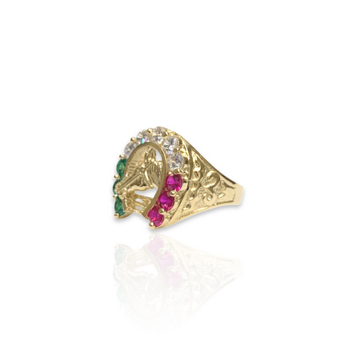 14kt Horseshoe Ring With CZ Stones - RNG36781