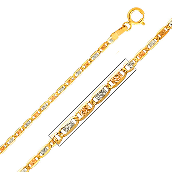 Yellow / White / Red Gold Chain - Valentino DC - 1.5 mm - CH118