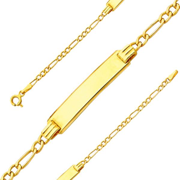 Yellow Gold ID Bracelet - 14 K - 6 in - 1.8 gr. - AB118