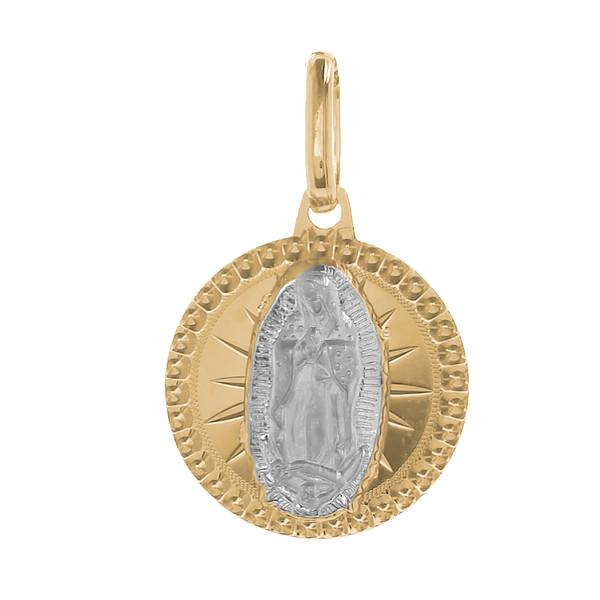 Yellow / White Gold Medal - Virgin Mary - 14 K - 1.1 gr. - RP025