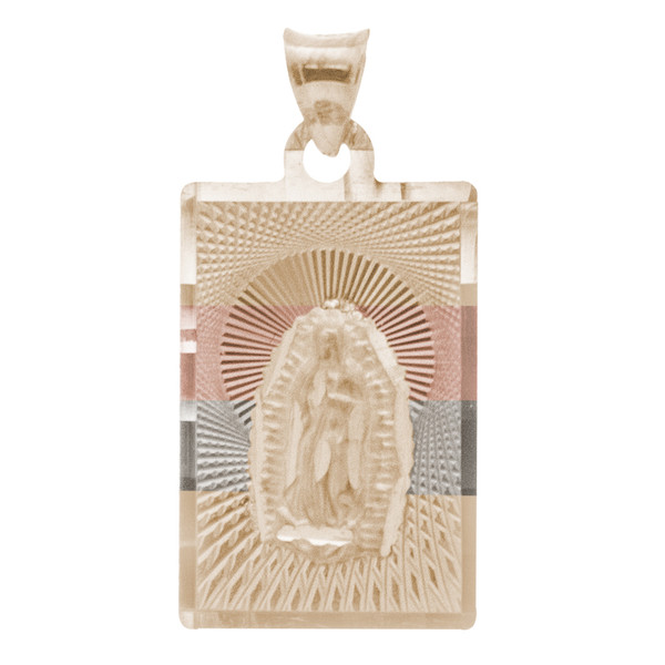 Yellow / White / Red Gold Virgin Mary Medal - 14 K - RP224