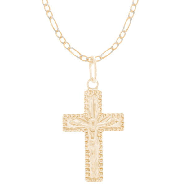 Cross and Chain Set - CZ - 14 K - JST429