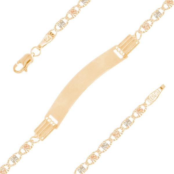 Baptism Jewelry Set - Chain, Pendant & ID Bracelet - 14K - BPS106
