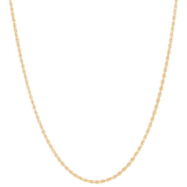 1.5mm Solid Diamond Cut Rope Chain