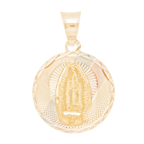 Tri Gold Pendant  - Virgin Mary - 14 K - RPVG-171