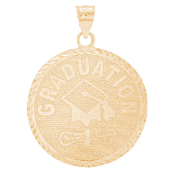 Yellow Gold Graduation Charm - 14 K - GRCH-169