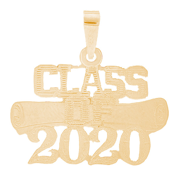 Yellow Gold Graduation Charm - 14 K - GRCH-171