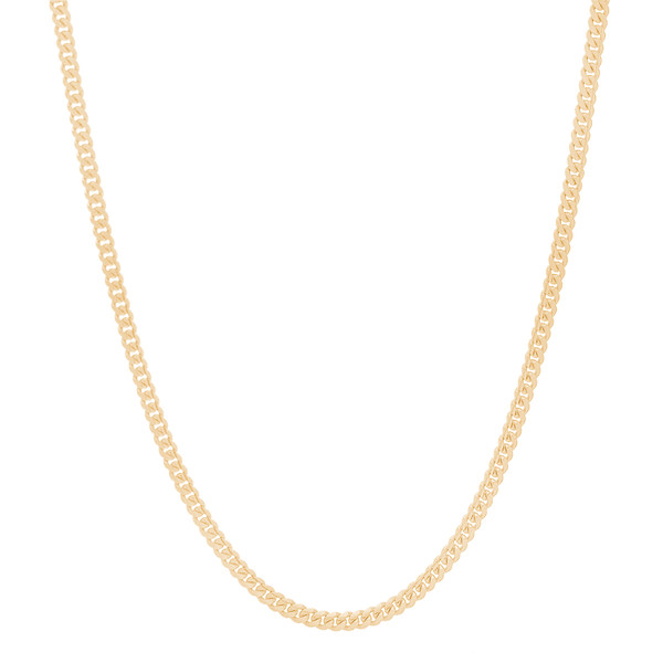 "3mm Solid Miami Cuban Link Chain - 22"", 24"", 26"""