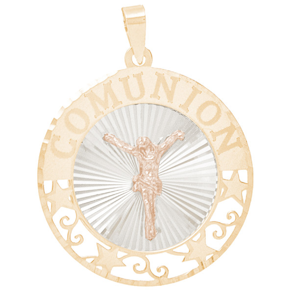 First Communion Gold Pendant - Jesus - 14 K - CMP11J