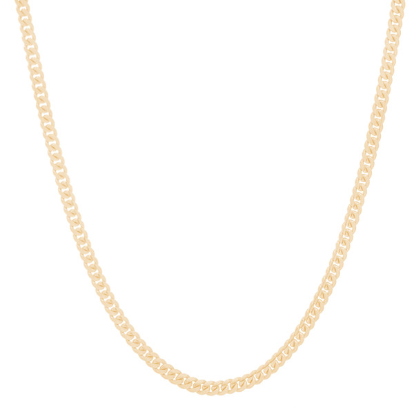 "4mm Solid Miami Cuban Link Chain with Box Lock Clasp - 20"", 22"", 24"""