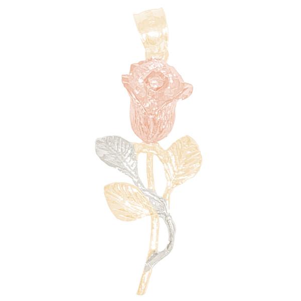 14kt Tri-Color Rose Pendant   - 14K - PND-ROSE