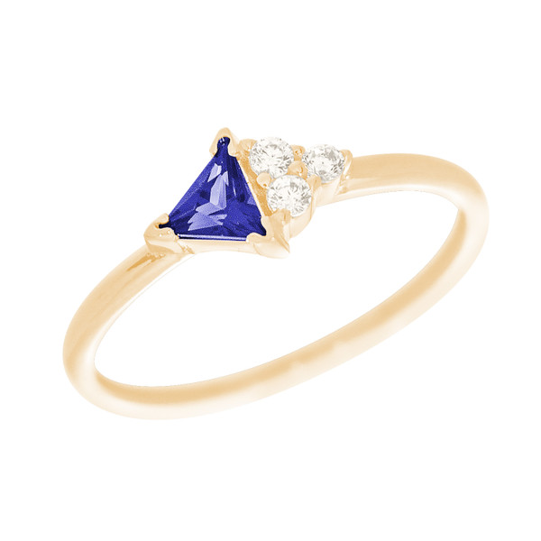 14kt Yellow Gold Ring with  CZ Stones - RNG-44INC651