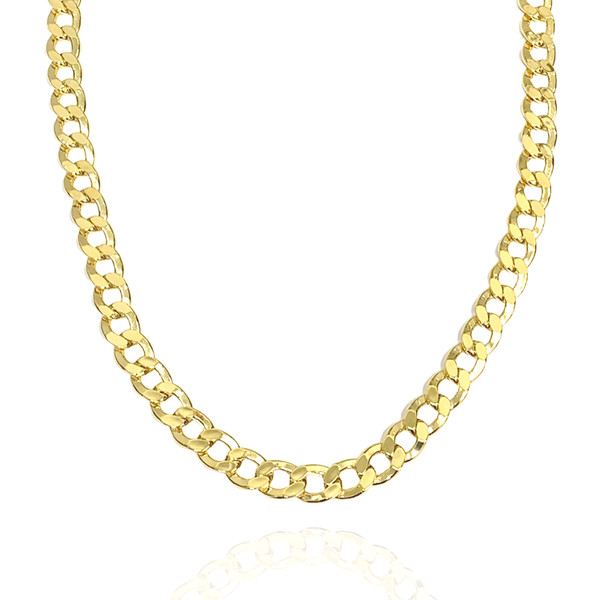 10.5mm 14kt Semi-Solid Concave Chain