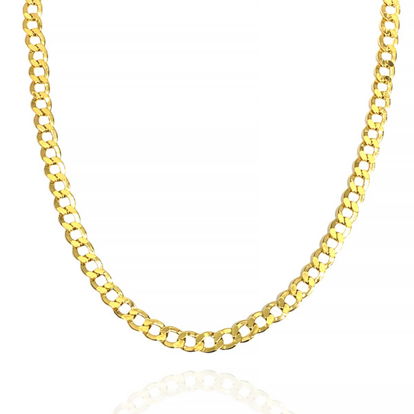 """9.2mm 14kt Semi-Solid Concave Chain - 24"""", 26"""""""