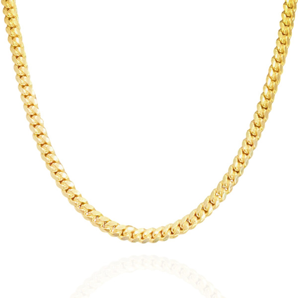 """7mm Solid Miami Cuban Link With Box Lock - 24"""", 26"""""""