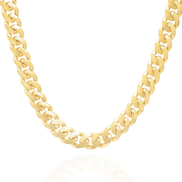 """10mm Solid Miami Cuban Link With Box Lock - 24"""", 26"""""""