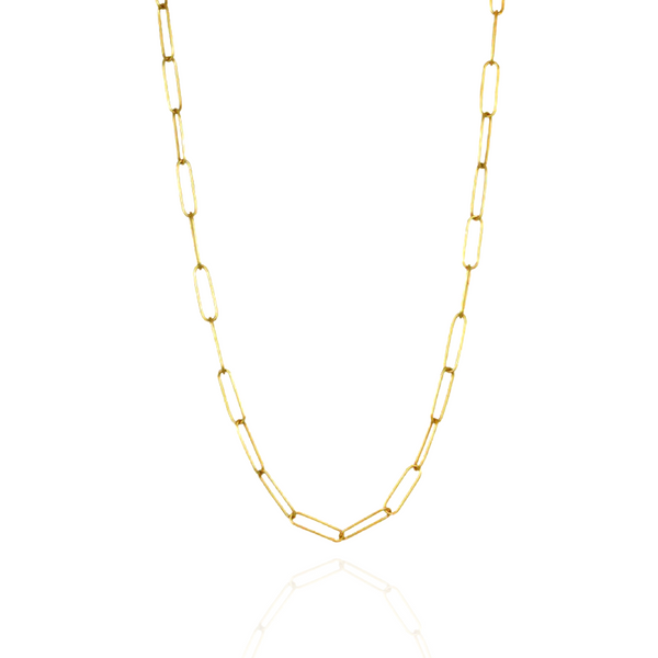 """3.3mm Hollow French Paperclip Chain - 16"""""""