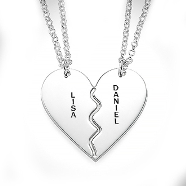Heart Silver Name Necklace - 0.925 - ANS002