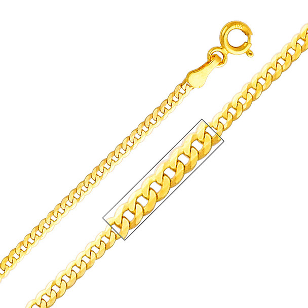 Yellow / White / Red Gold Chain - Cuban - 2.0 mm - CH112