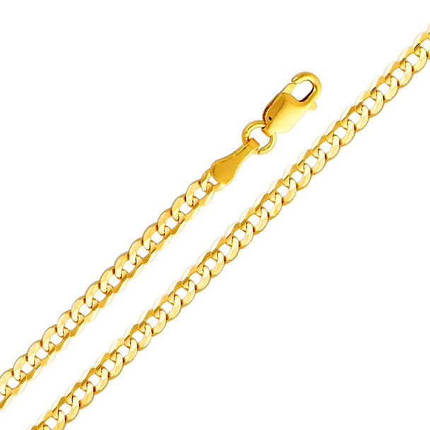 Yellow / White / Red Gold Chain - Cuban - 2.7 mm - CH111