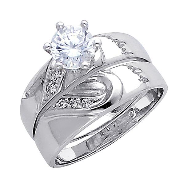 Engagement Ring / Wedding Band 14K  5.5 gr. - RG170