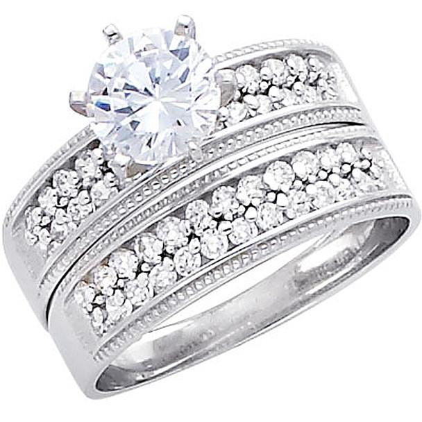 Engagement Ring / Wedding Band 14K  5.3 gr. - RG232