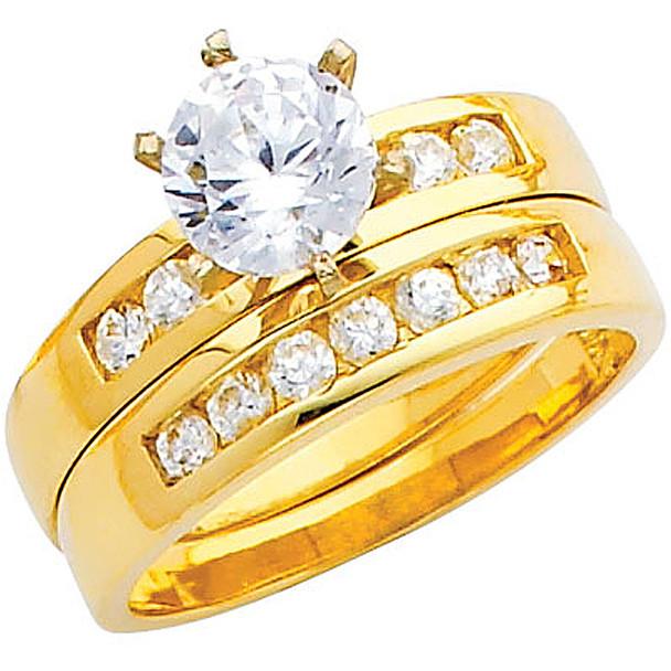 Engagement Ring / Wedding Band  14K  4.9 gr. - RG218