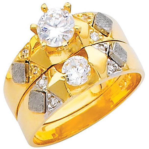 Engagement Ring / Wedding Band 14K  4.9 gr. - RG216