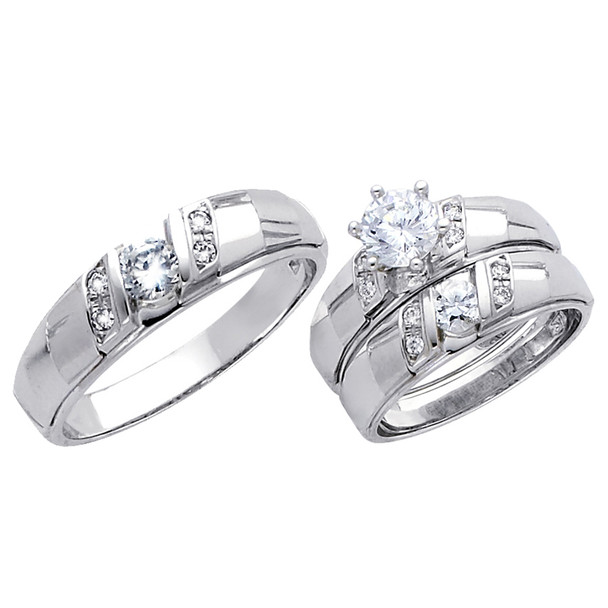 White Gold Trio Set - 14 K - TC171