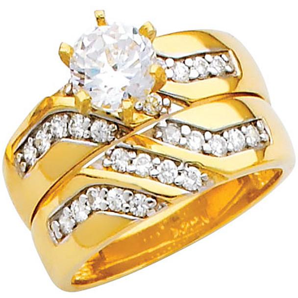 Engagement Ring / Wedding Band 14K  5.9 gr. - RG206
