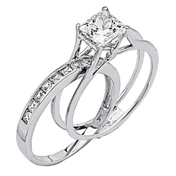 White Gold Engagement Ring - 14K  4.5 gr. - RG58