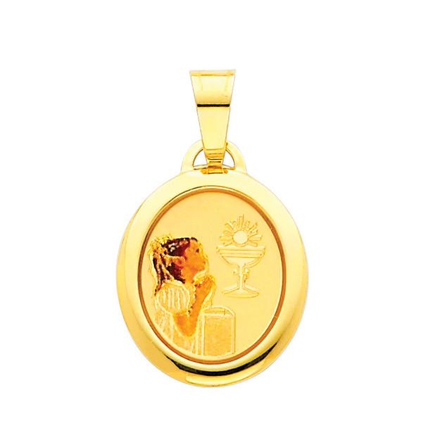 First Communion Gold Pendant - 14 K.  1.1 gr. - PT215